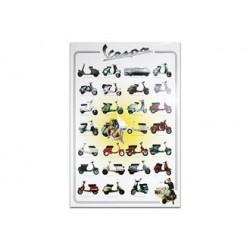 45500101 - POSTER VESPA 5 PEZZI 60X90