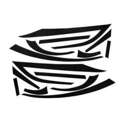 RDBAFFI/BK - KIT ADESIVI BAFFI NERO, PIAGGIO ZIP MKII