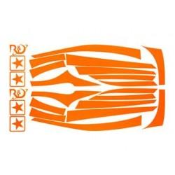 RDBAFFI/ORJOG - KIT ADESIVI BAFFI ARANCIO FLUO, JOG