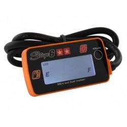 S6-4035/OR - INDICATORE LIVELLO BENZINA STAGE6, LCD MINI, 100/160 OHM, ARANCIONE
