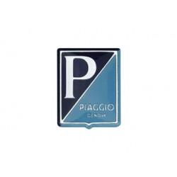 """278VL137G - TARGHETTA VESPA SCUDETTO ADESIVO """"P/ PIAGGIO GENOVA"""""""
