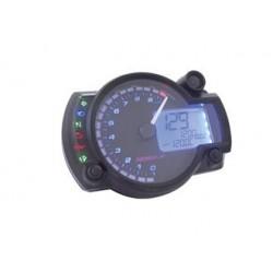 KO-BA015B15 - TACHIMETRO KOSO RX2N PLUS, 0 - 10.000 RPM,  RETROILLUMINAZIONE BLU, DISPLAY NERO