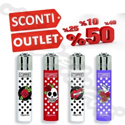CR03265 CLIPPER MICRO INNOCENT SKULLS BI 48 PZ ACCENDINI MICRO PICCOLI MINI